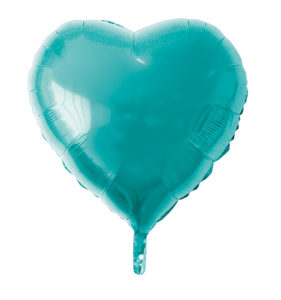 globo poliamida corazon aguamarina