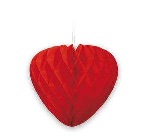corazon de abeja rojo