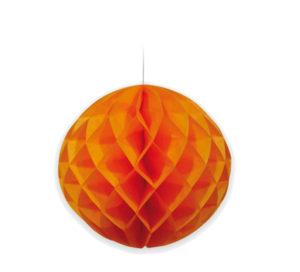 nido de abeja pequeño naranja