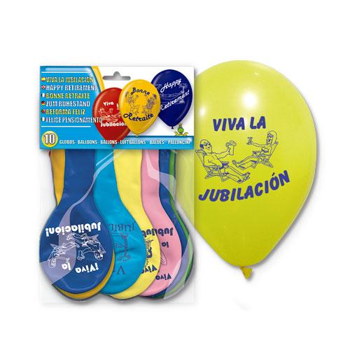 """Globos """"Viva la jubilación""""-0"""