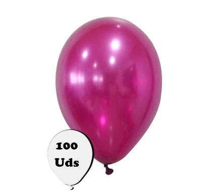 100 globos metalizados burdeos