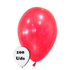 100 globos metalizados color rojo