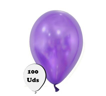 100 globos metalizados violeta