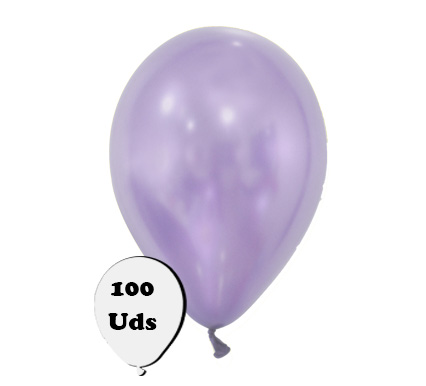 100 globos metalizados lavanda