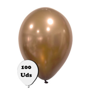 100 globos metalizados marrón