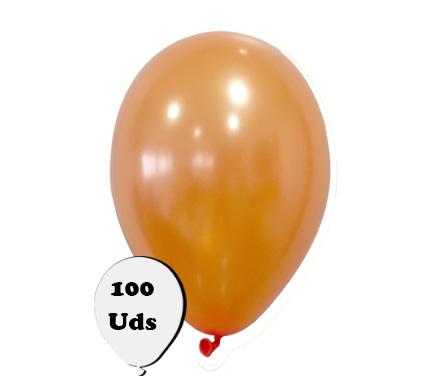 100 globos metalizados naranja