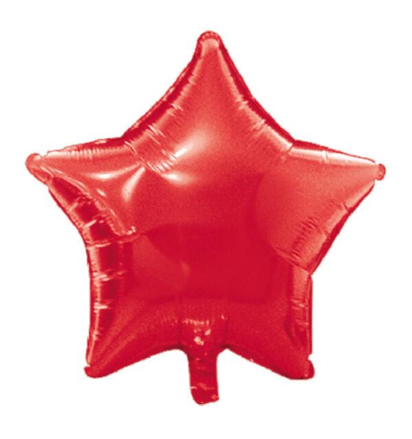globo poliamida estrella rojo