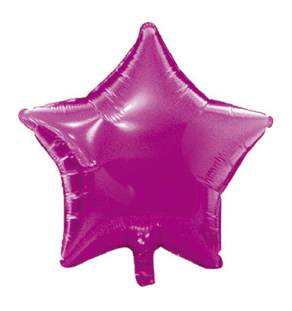 globo poliamida estrella fucsia