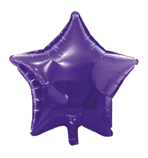 globo poliamida estrella violeta