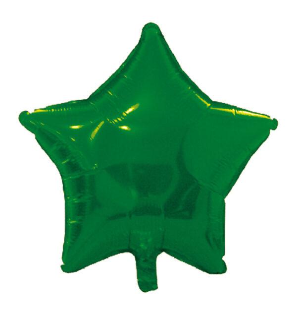 globo poliamida estrella verde