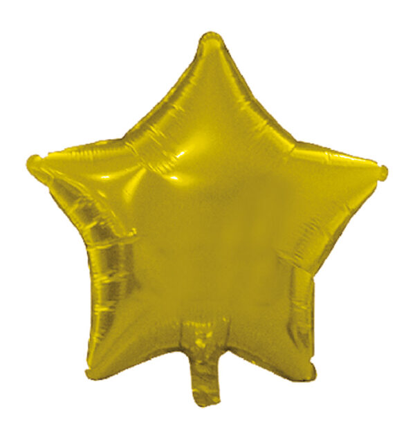 globo poliamida estrella oro