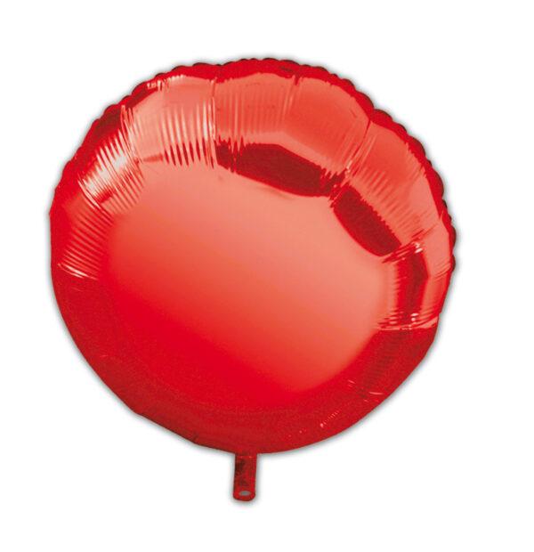 globo poliamida círculo rojo