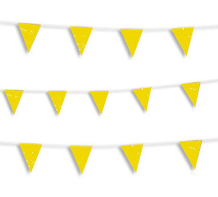 Guirnalda banderín amarilla