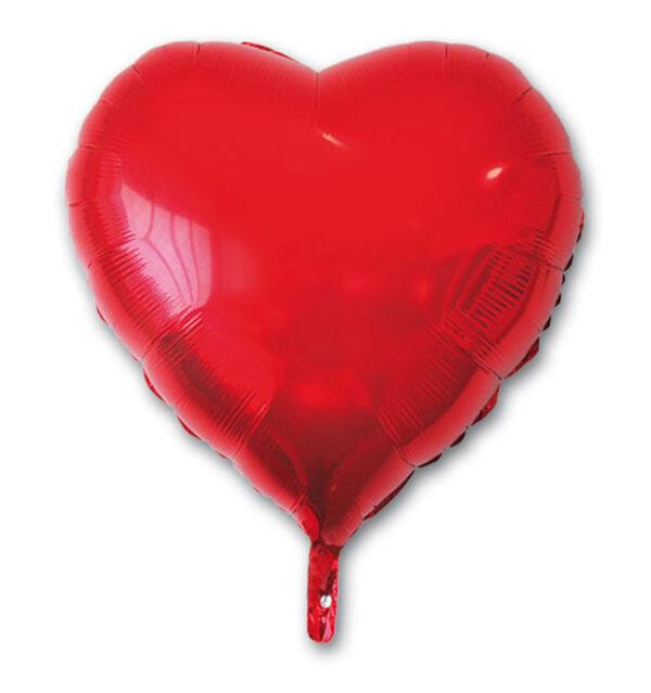 Globo poliamida corazón rojo