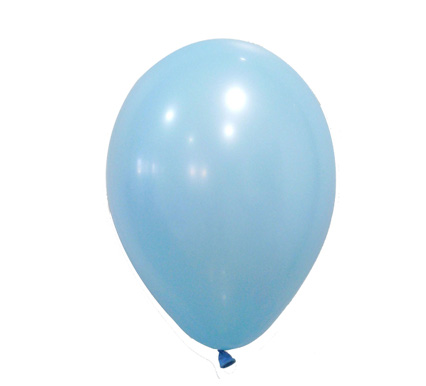 12 globos pastel celeste
