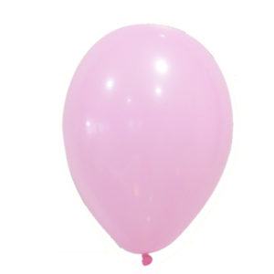 12 globos pastel rosa chicle