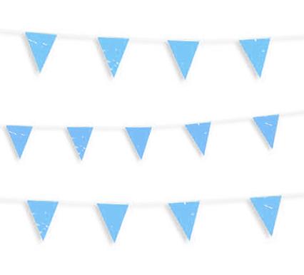 guirnalda banderin azul