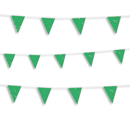 guirnalda banderin verde
