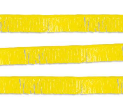 guirnalda flecos amarilla
