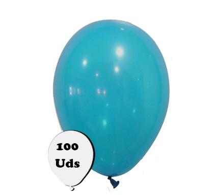 100 globos pastel azul turquesa