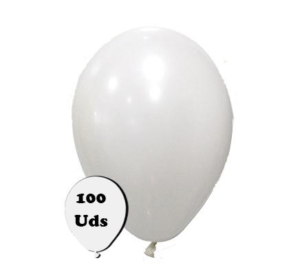 100 globos pastel blanco