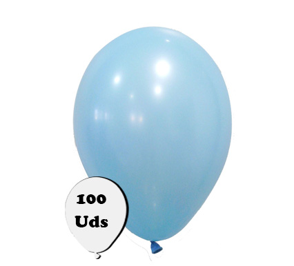 100 globos pastel celeste