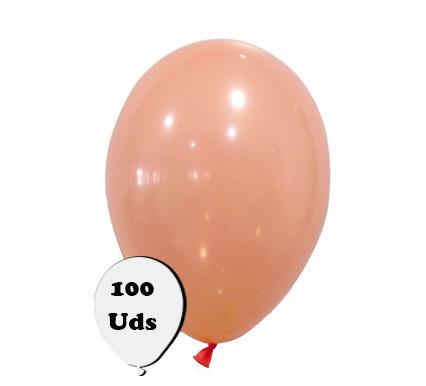 100 globos pastel salmón