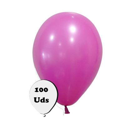 100 globos pastel fucsia