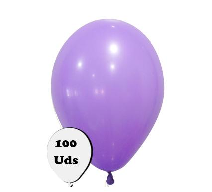 100 globos pastel violeta