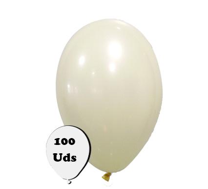 100 globos pastel color marfil