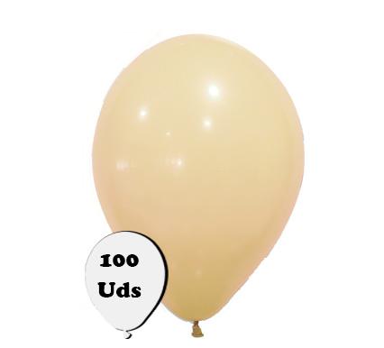100 globos pastel nude