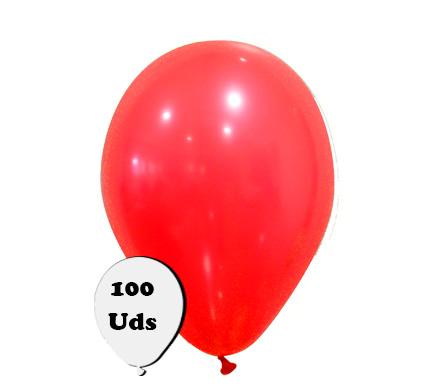 100 globos pastel rojo oscuro