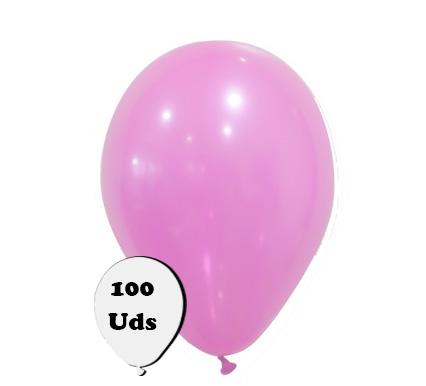 Bolsa 100 globos pastel rosa