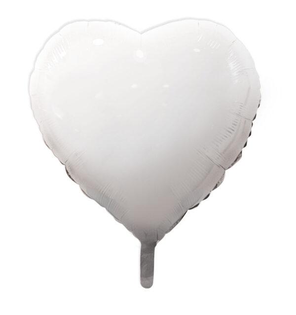 globo poliamida corazón blanco