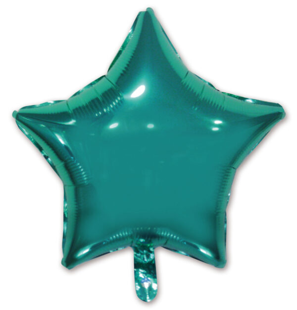 globo poliamida estrella aguamarina