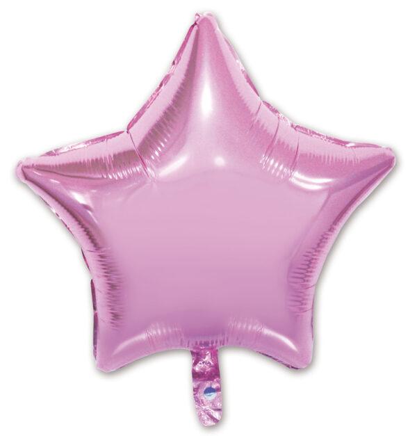 globo poliamida estrella rosa