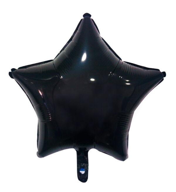 globo poliamida estrella negro
