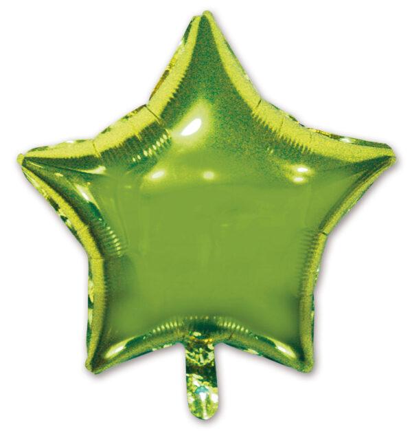 globo poliamida estrella verde lima